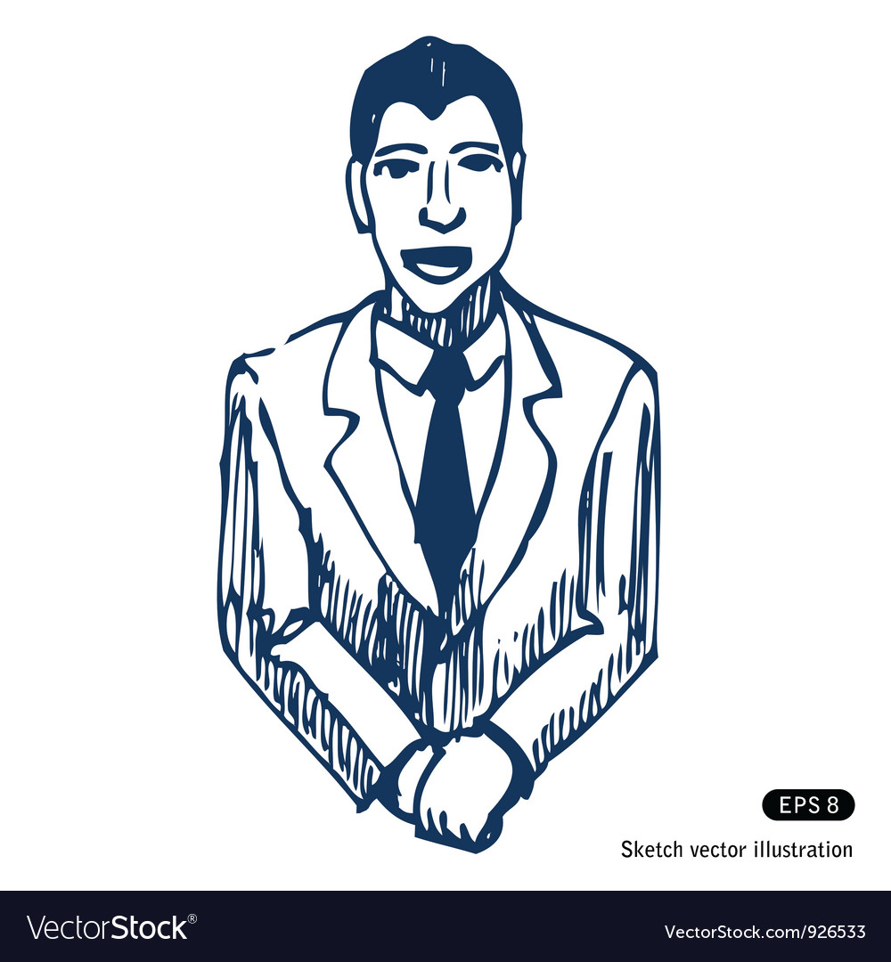 Smiling successful businessman vector | Price: 1 Credit (USD $1)