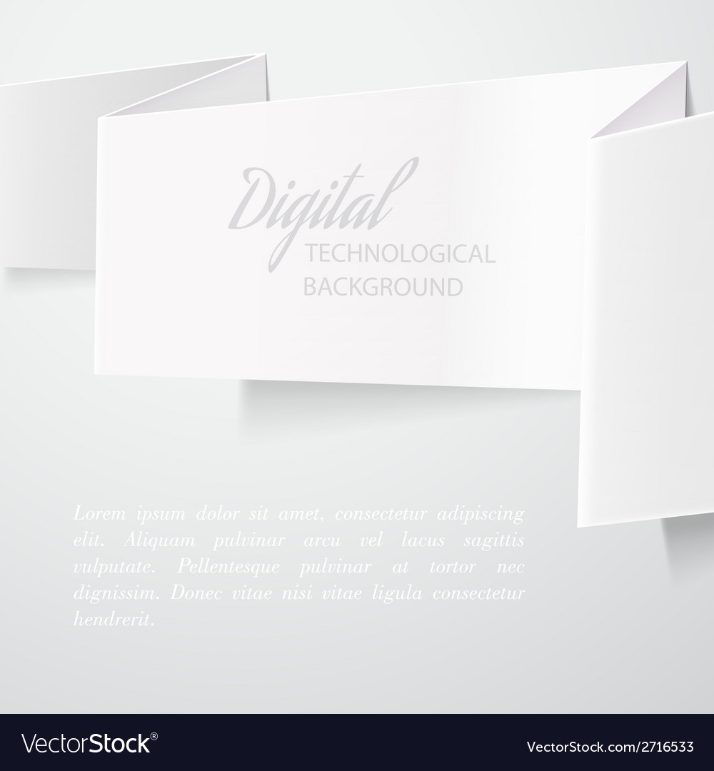White folded paper vector | Price: 1 Credit (USD $1)