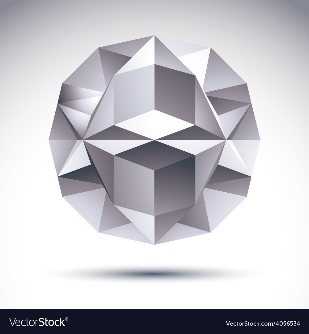 Abstract geometric 3d object clear eps 8 vector | Price: 1 Credit (USD $1)
