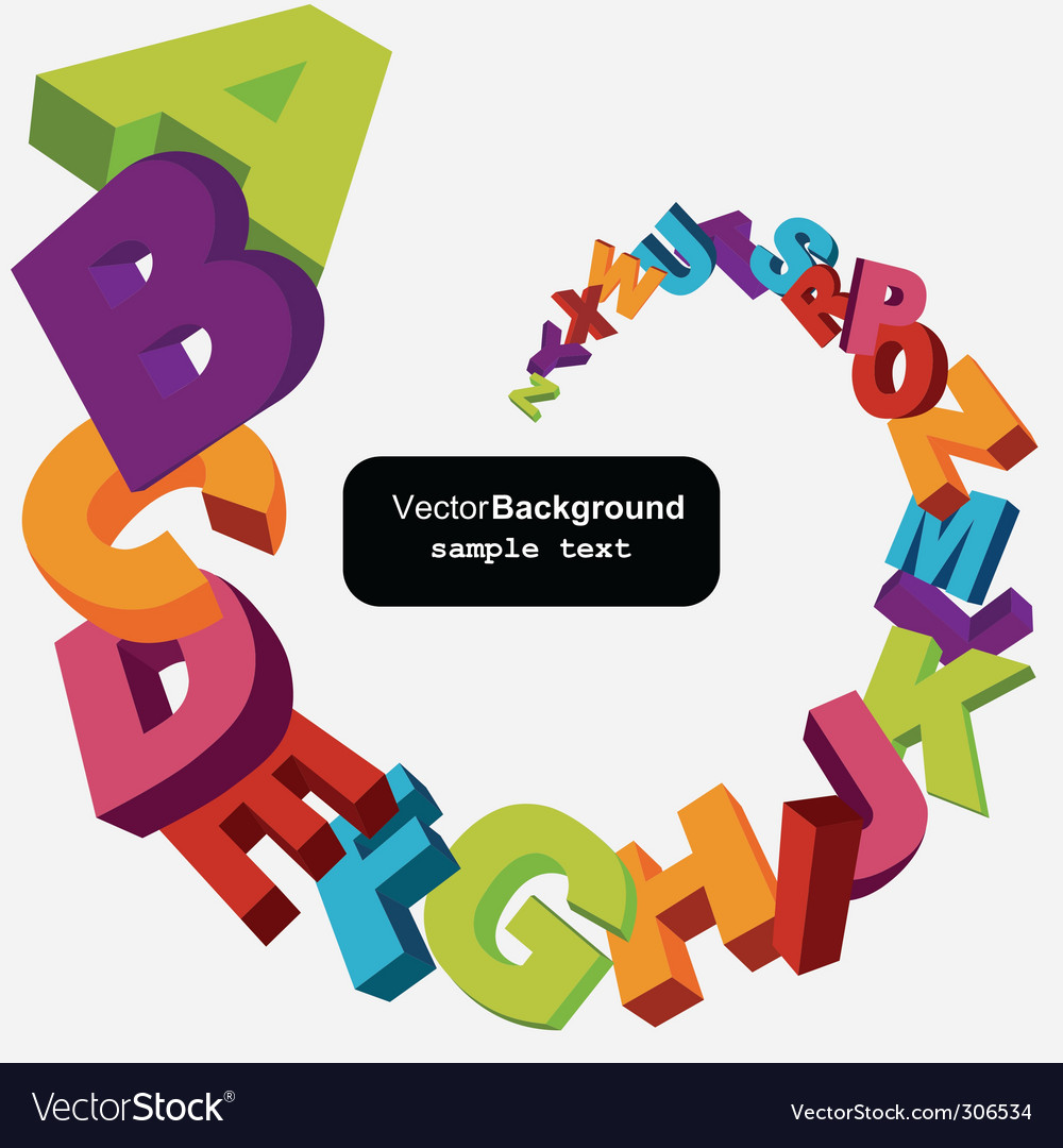 Alphabet letters vector | Price: 1 Credit (USD $1)