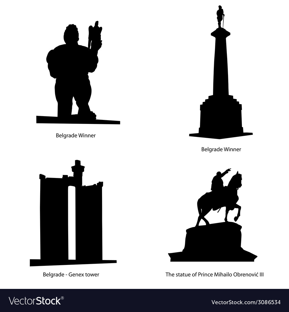 Belgrade most famous statue vector | Price: 1 Credit (USD $1)
