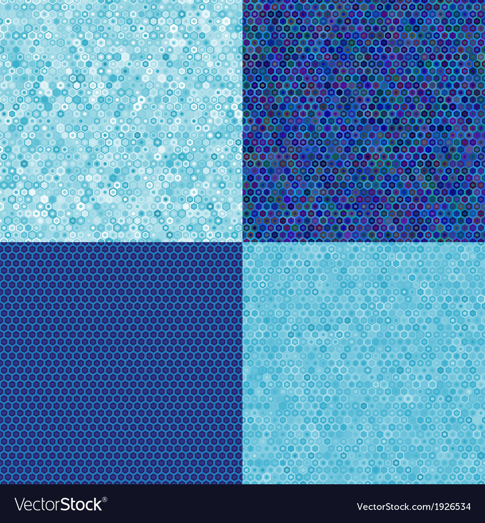 Blue texture of hexagons vector | Price: 1 Credit (USD $1)