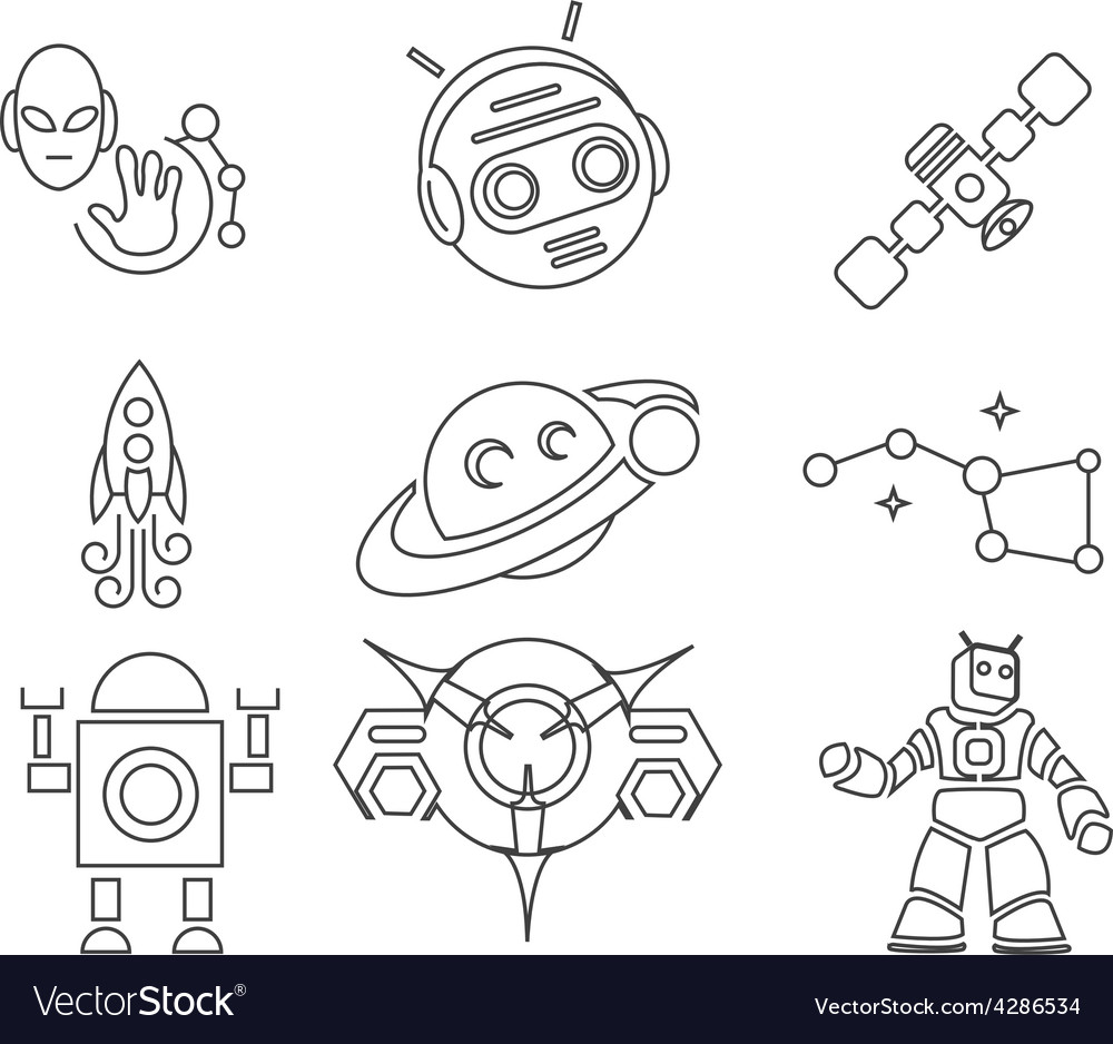 Conquest of space outline edition 2 vector | Price: 1 Credit (USD $1)
