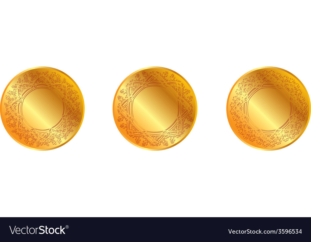 Gold pattern medal vector | Price: 1 Credit (USD $1)