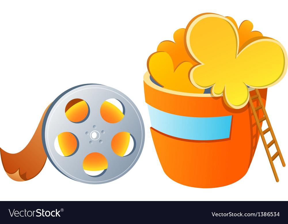 Icon popcorn and film vector | Price: 1 Credit (USD $1)