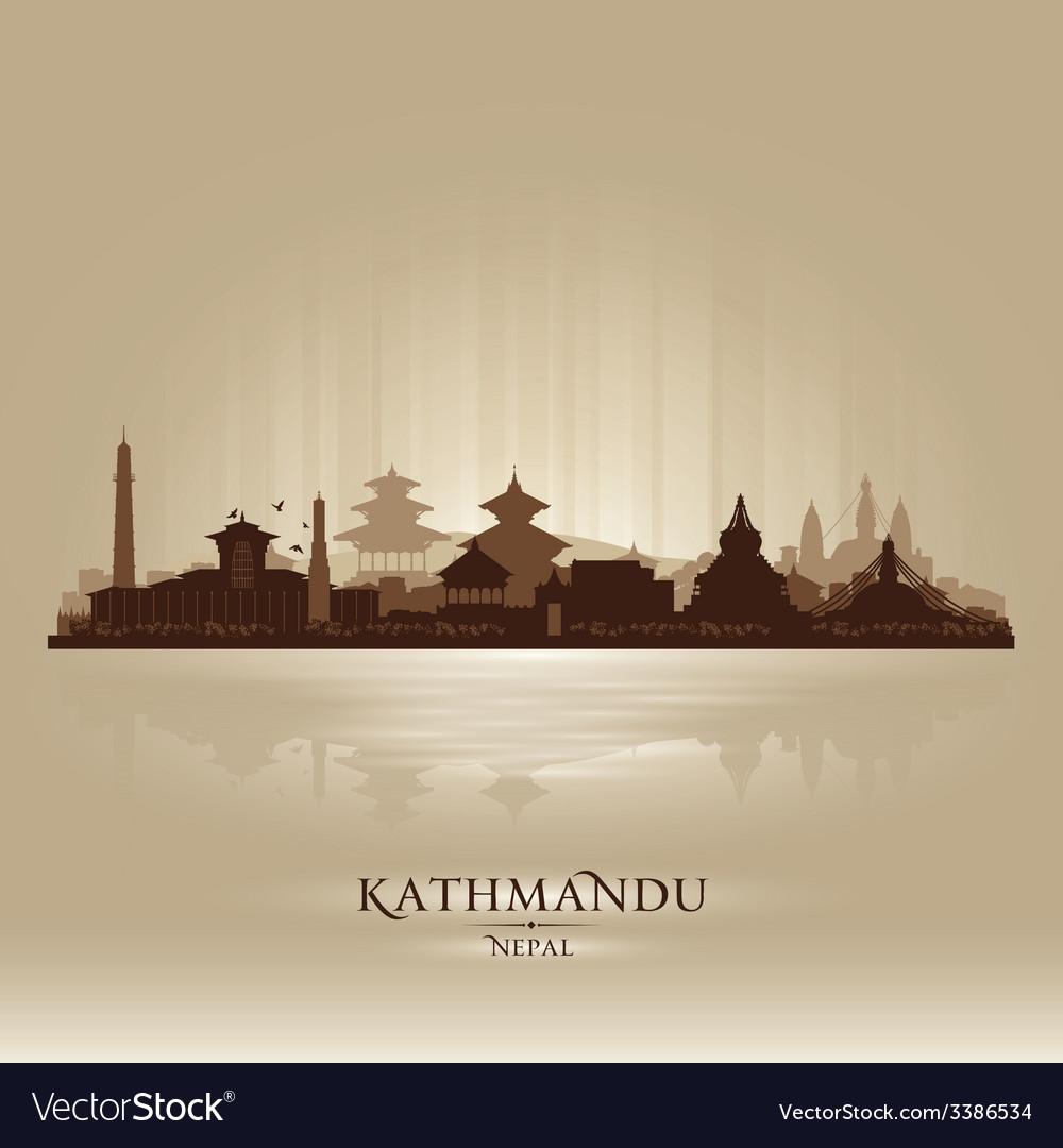 Kathmandu nepal city skyline silhouette vector   Price: 1 Credit (USD $1)