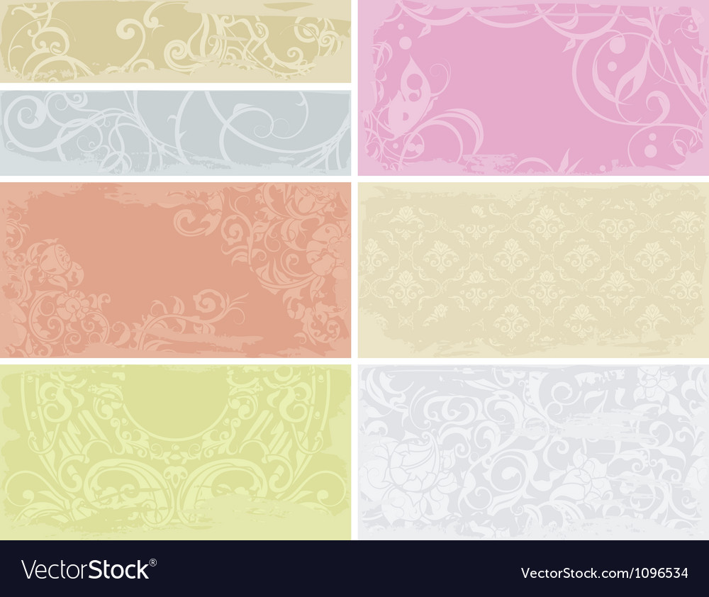 Patterned cards set vector | Price: 1 Credit (USD $1)
