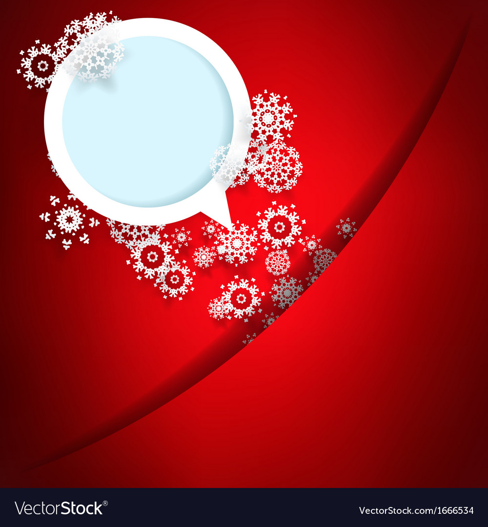Red christmas card with snowflakes  eps10 vector   Price: 1 Credit (USD $1)