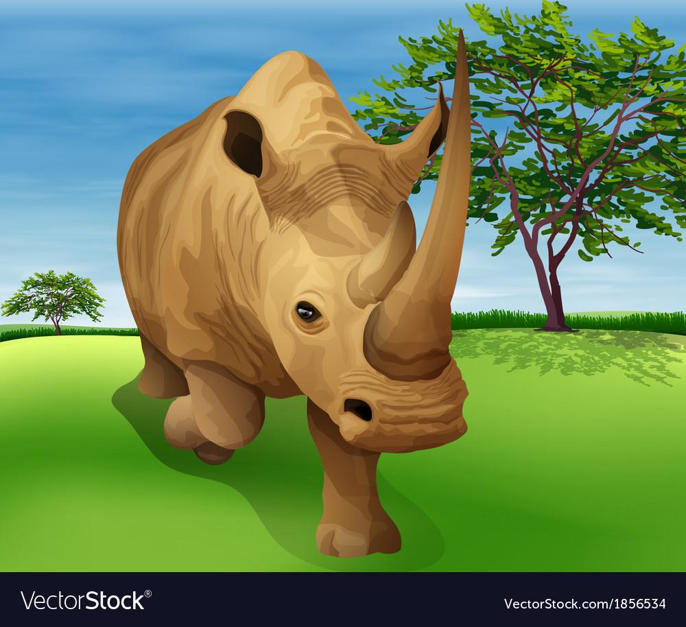 Rhinoceros vector | Price: 3 Credit (USD $3)