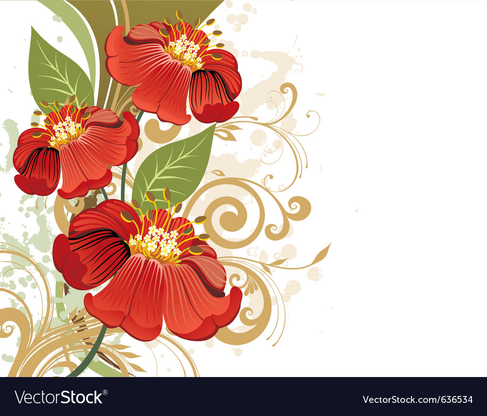 Summer floral vector   Price: 1 Credit (USD $1)