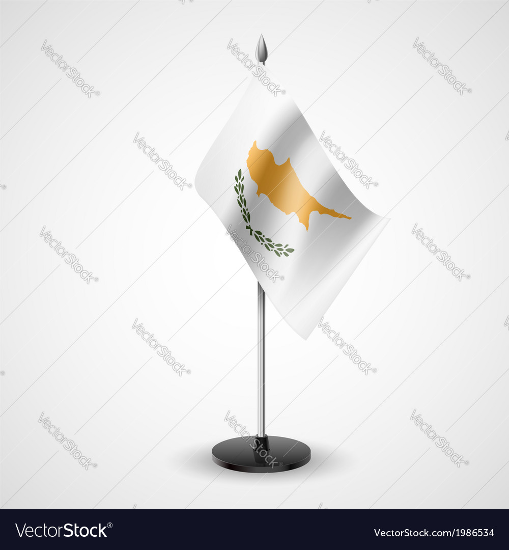 Table flag of cyprus vector | Price: 1 Credit (USD $1)