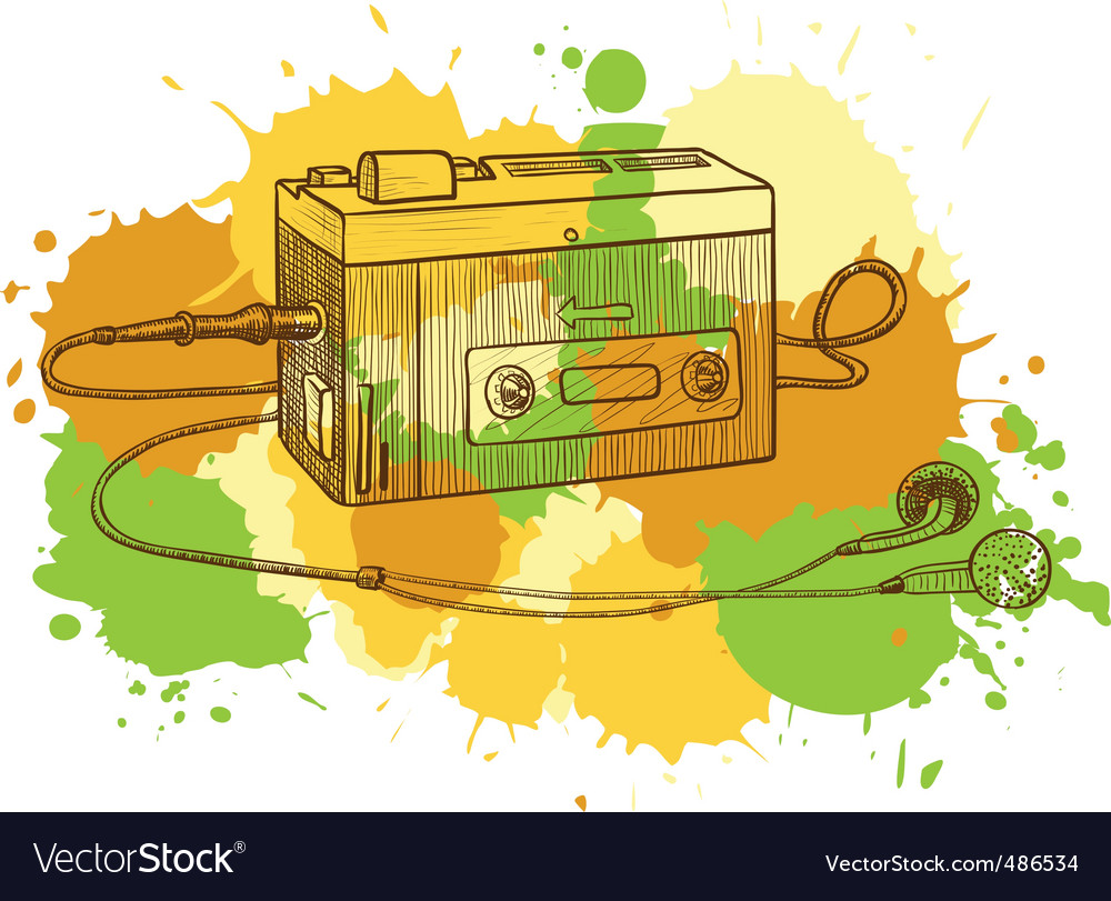 Tape recorder vector | Price: 3 Credit (USD $3)