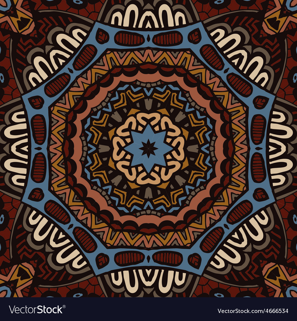 Vintage ethnic seamless design vector | Price: 1 Credit (USD $1)