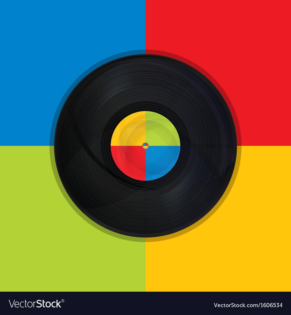 Vintage record pop art vector | Price: 1 Credit (USD $1)