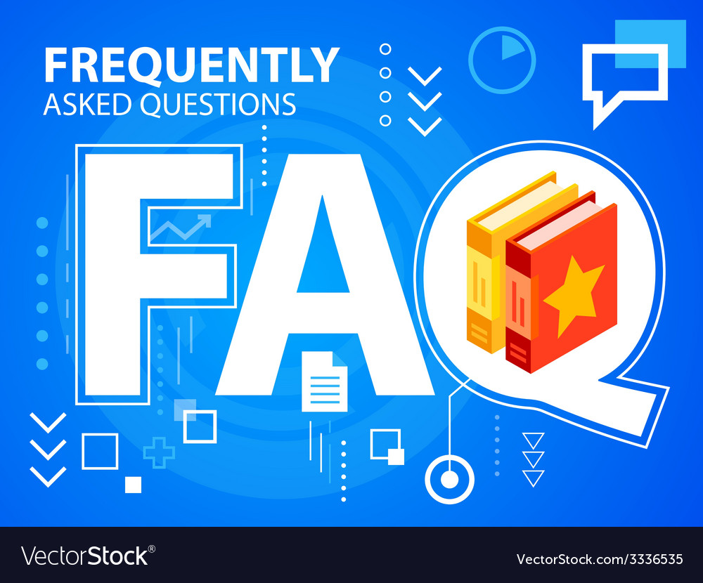 Bright faq and books on blue background for vector | Price: 3 Credit (USD $3)