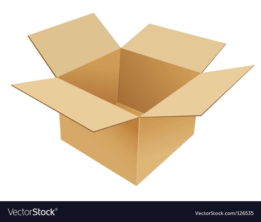 Cardboard box vector | Price: 1 Credit (USD $1)