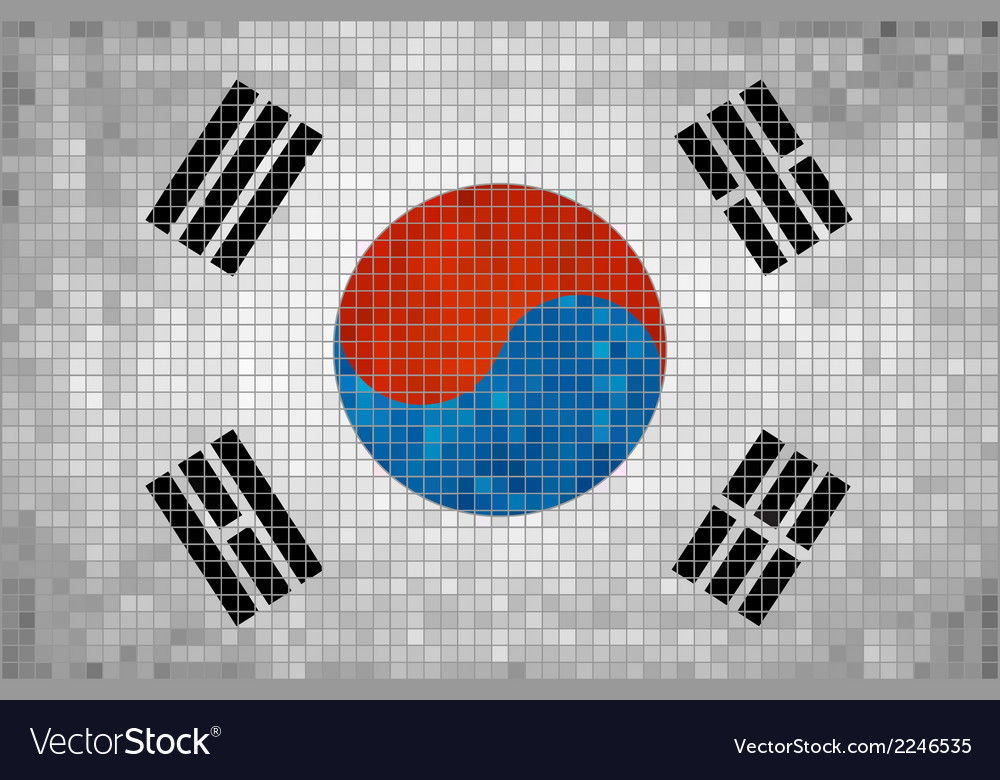 Flag of korea vector | Price: 1 Credit (USD $1)