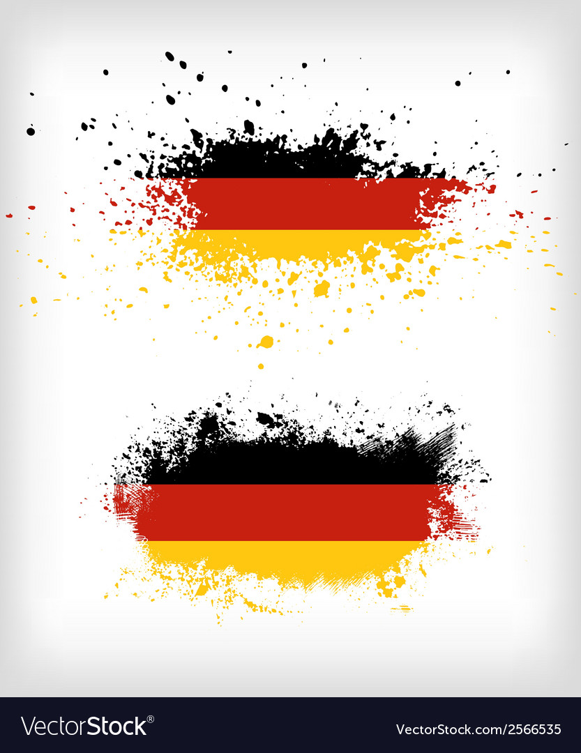 Grunge german ink splattered flag vector | Price: 1 Credit (USD $1)