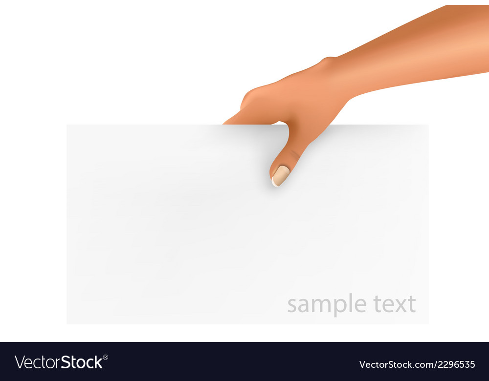 Hand holding business object vector | Price: 1 Credit (USD $1)
