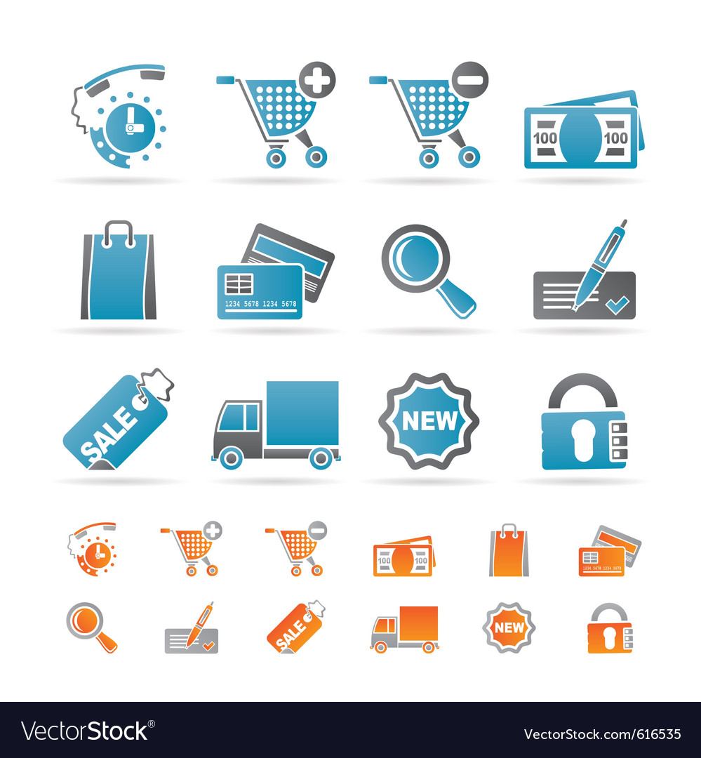 Internet icons for online shop vector | Price: 1 Credit (USD $1)