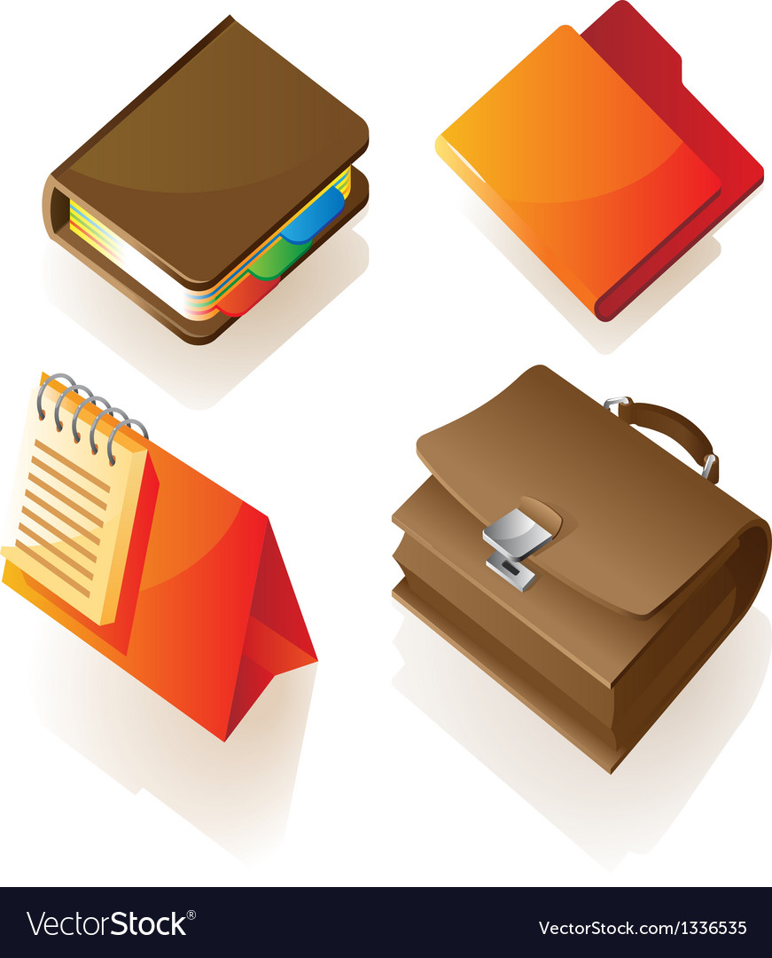 Isometric icon of work items vector | Price: 1 Credit (USD $1)