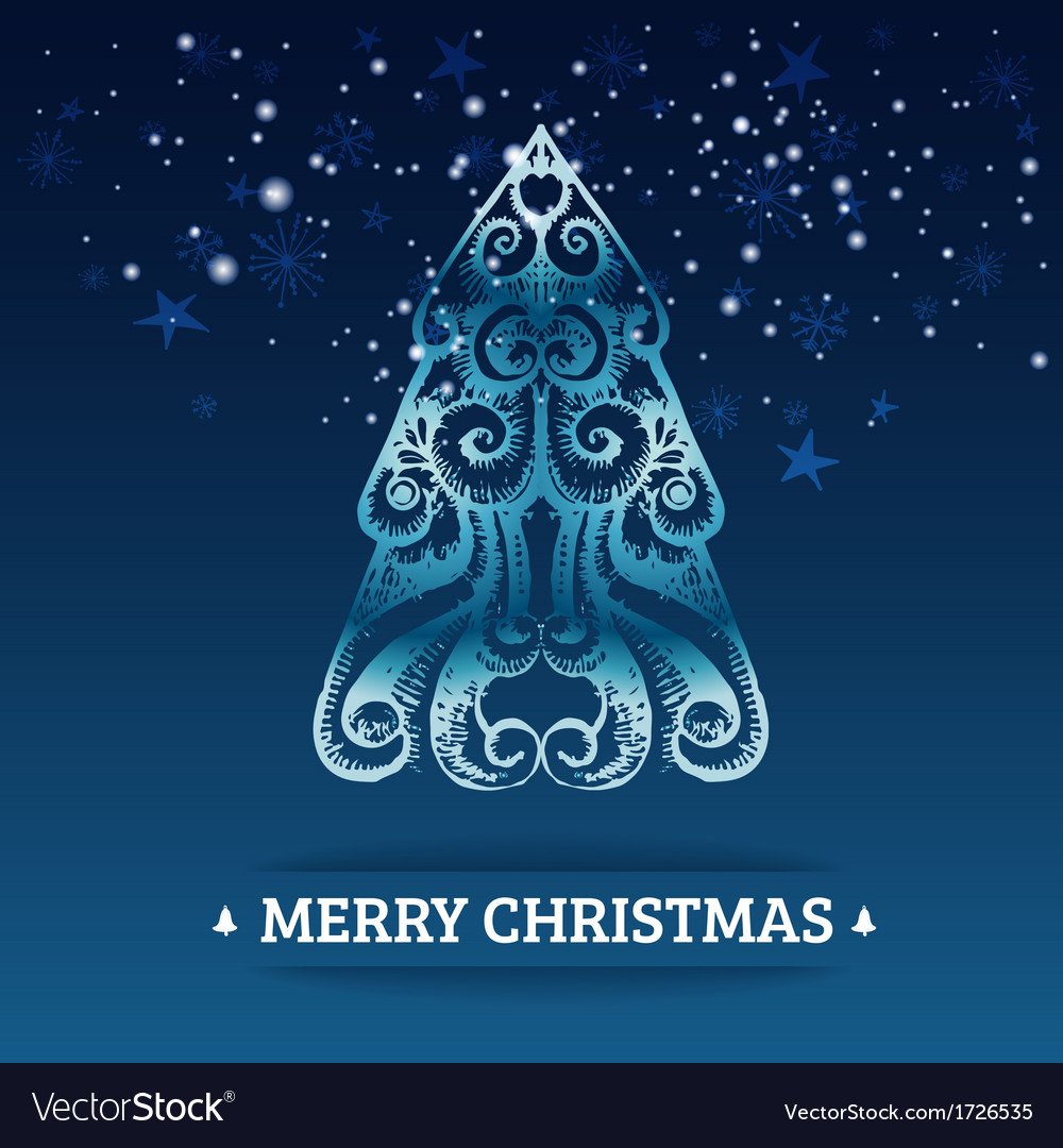 Ornamental stylized christmas background vector | Price: 1 Credit (USD $1)
