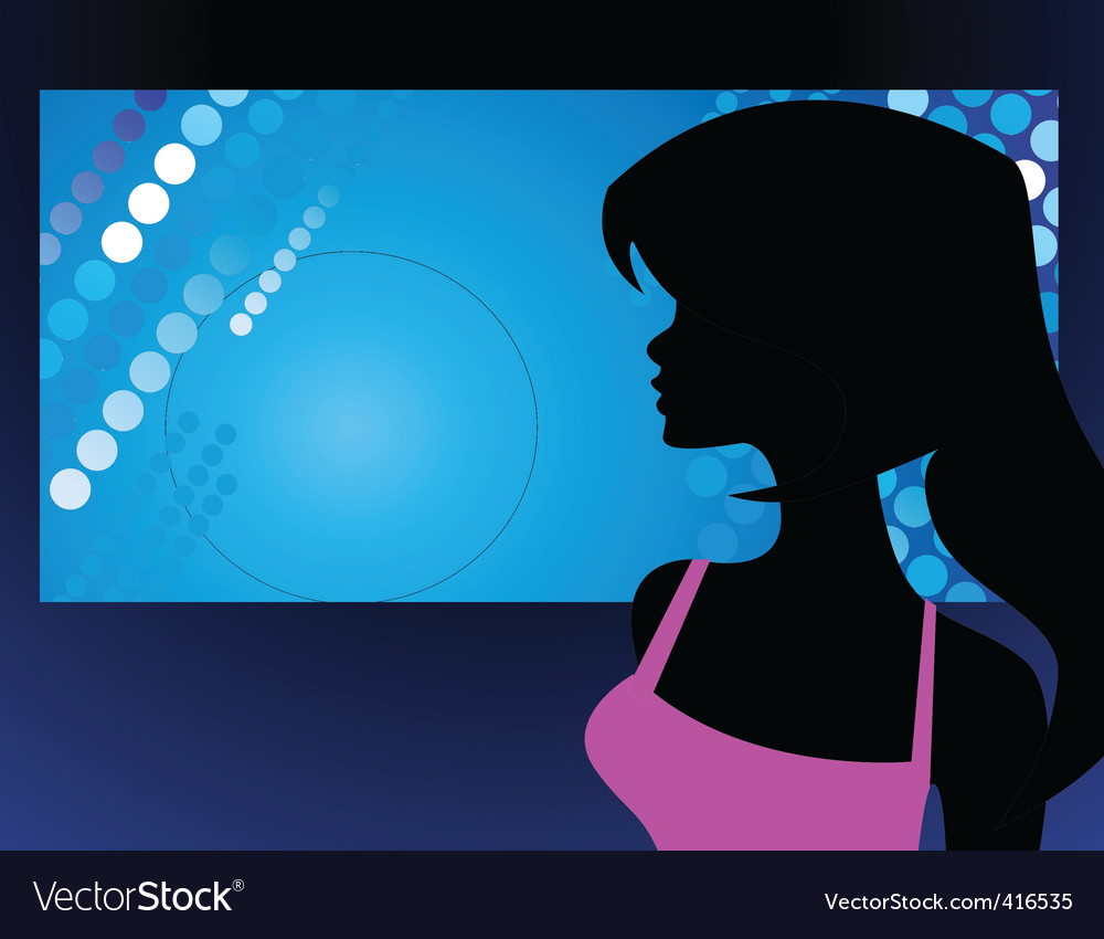 Party girl vector | Price: 1 Credit (USD $1)