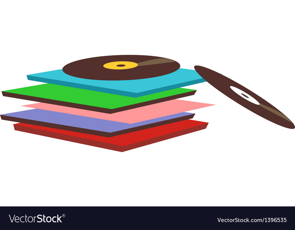 Record are piled up vector | Price: 1 Credit (USD $1)