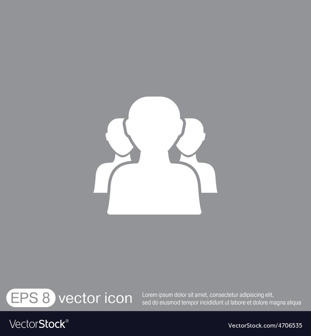 Silhouette of a men social media vector | Price: 1 Credit (USD $1)