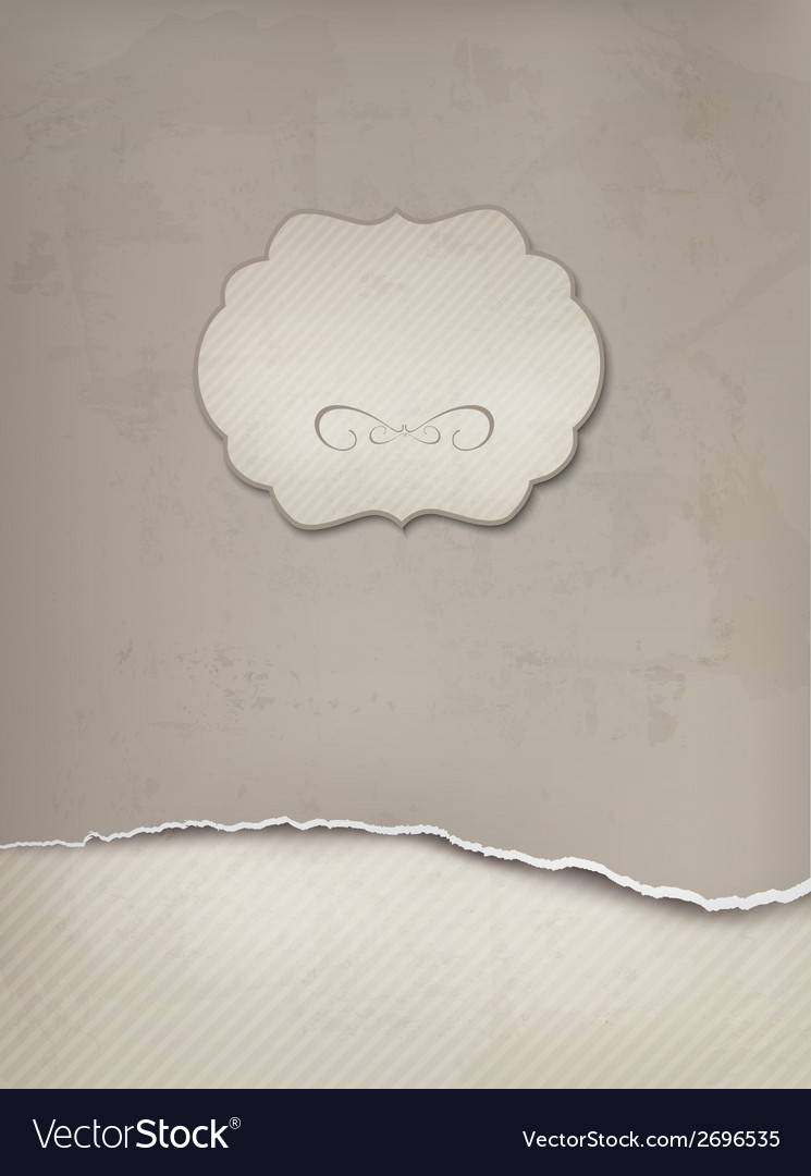 Vintage background with ripped old paper vector | Price: 1 Credit (USD $1)