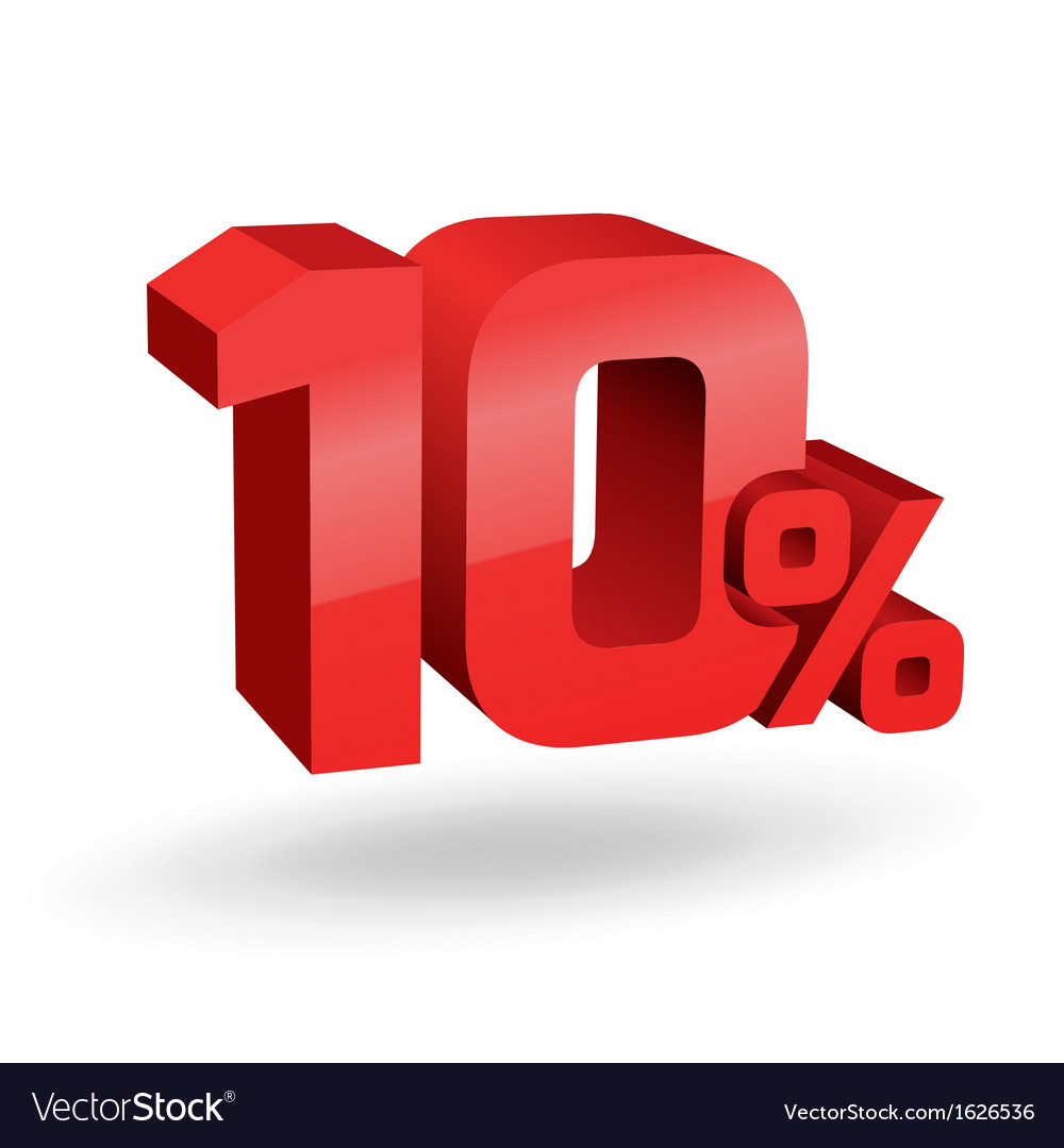 10 percent digits vector | Price: 1 Credit (USD $1)