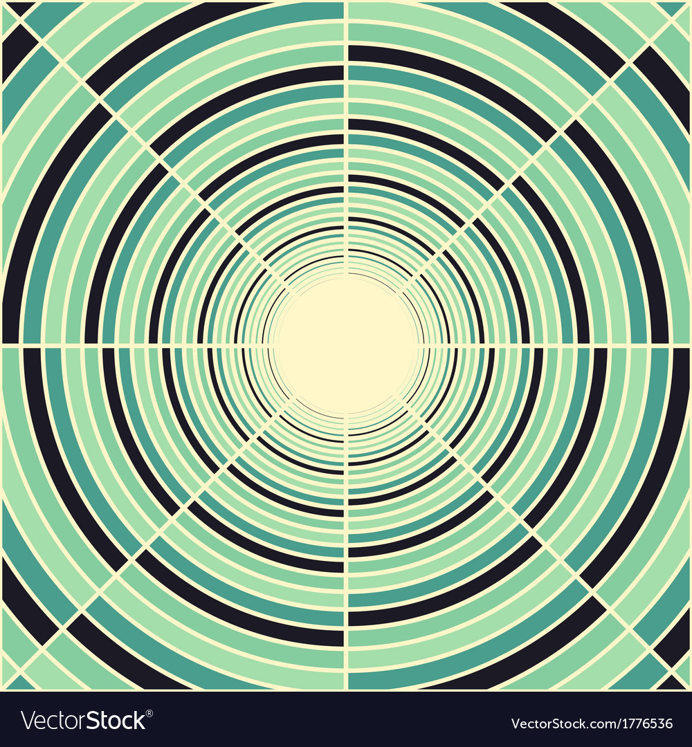 Abstract deep green tube light at end of tunnel vector | Price: 1 Credit (USD $1)