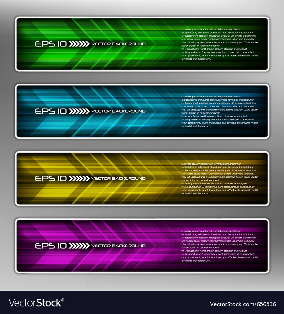 Abstract web banner vector | Price: 1 Credit (USD $1)