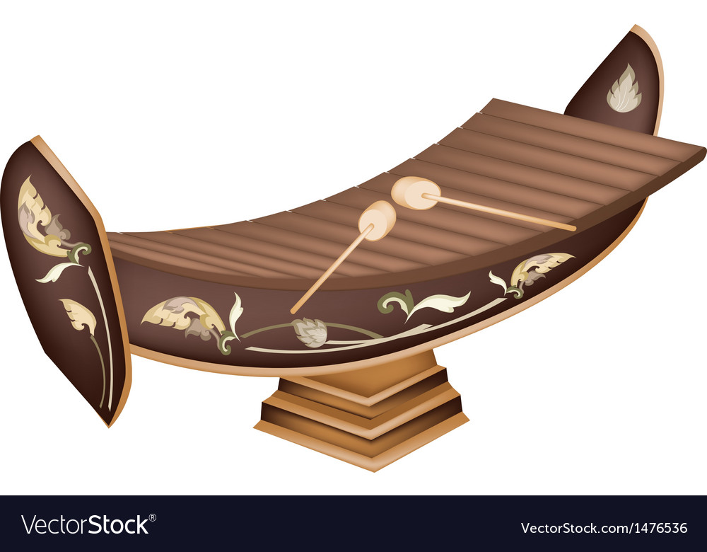 Beautiful thai xylophone background vector   Price: 1 Credit (USD $1)