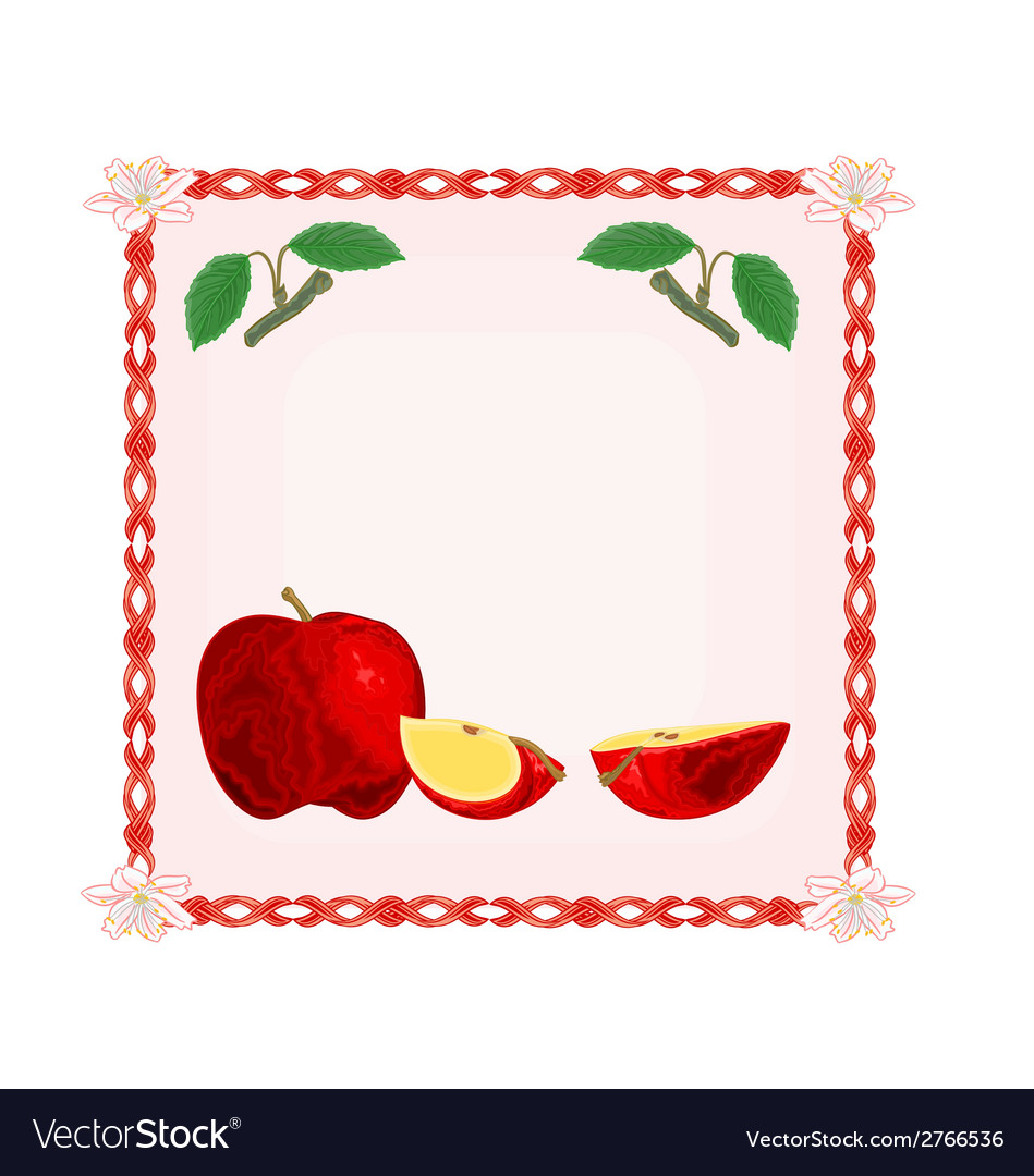 Button apple with leaves vector | Price: 1 Credit (USD $1)