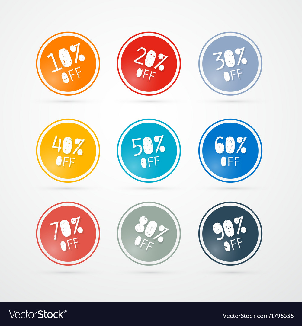 Discount labels tags set vector   Price: 1 Credit (USD $1)