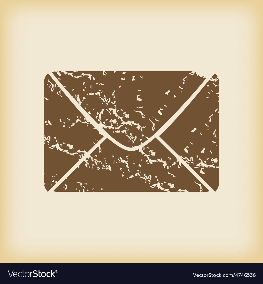 Grungy letter icon vector | Price: 1 Credit (USD $1)