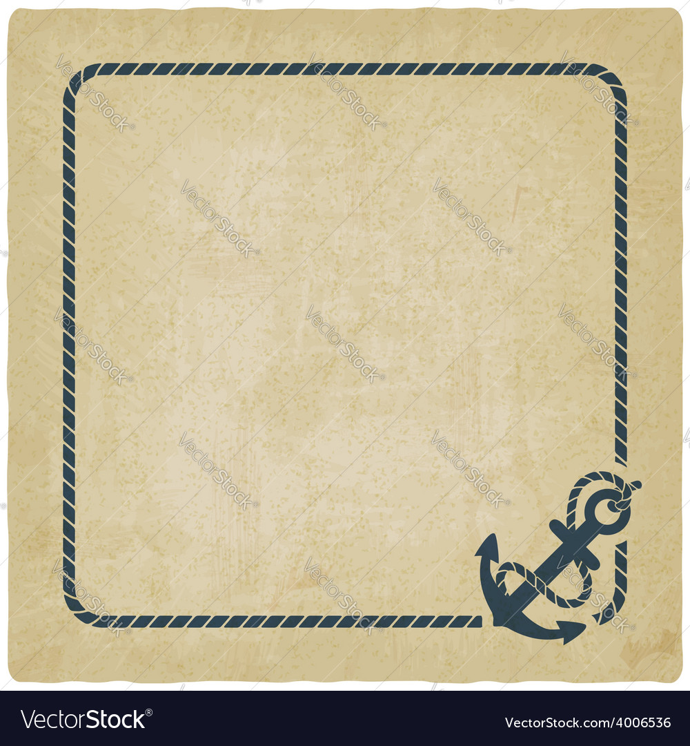Marine background with anchor vector | Price: 1 Credit (USD $1)