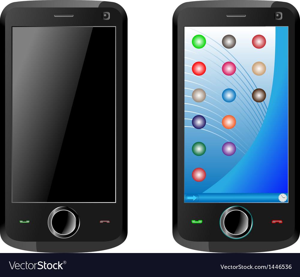 Mobile communicator vector | Price: 1 Credit (USD $1)
