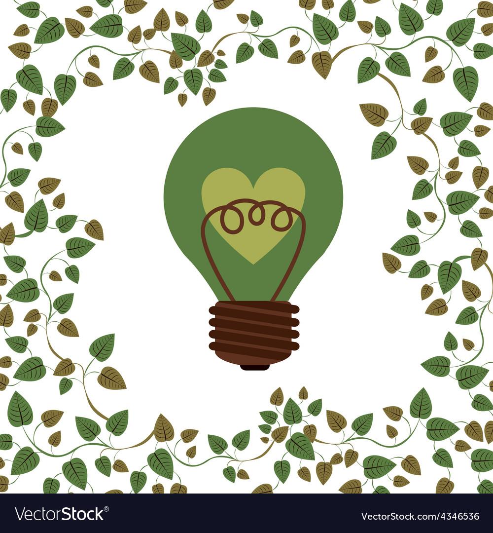 Think green design vector | Price: 1 Credit (USD $1)