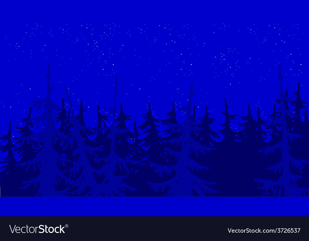 Background blue forest vector | Price: 3 Credit (USD $3)
