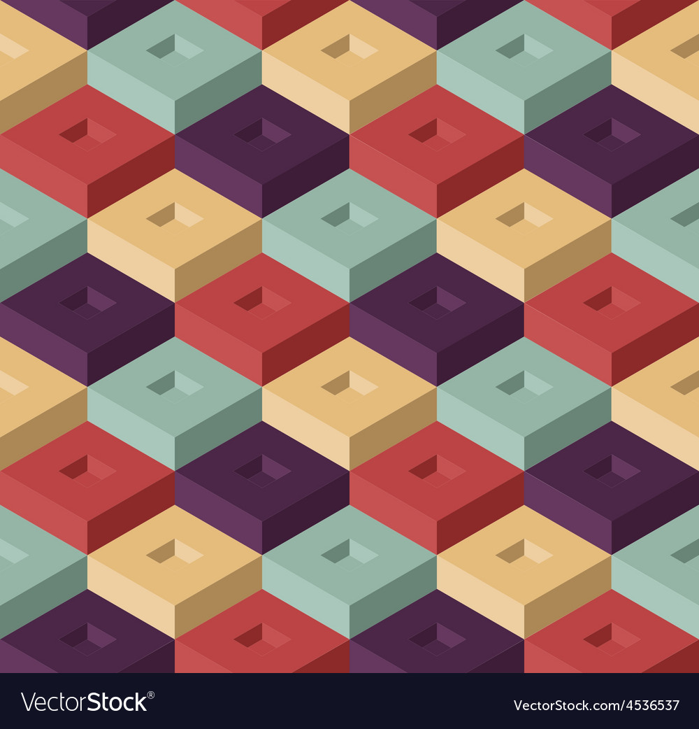 Color cubes pattern vector | Price: 1 Credit (USD $1)
