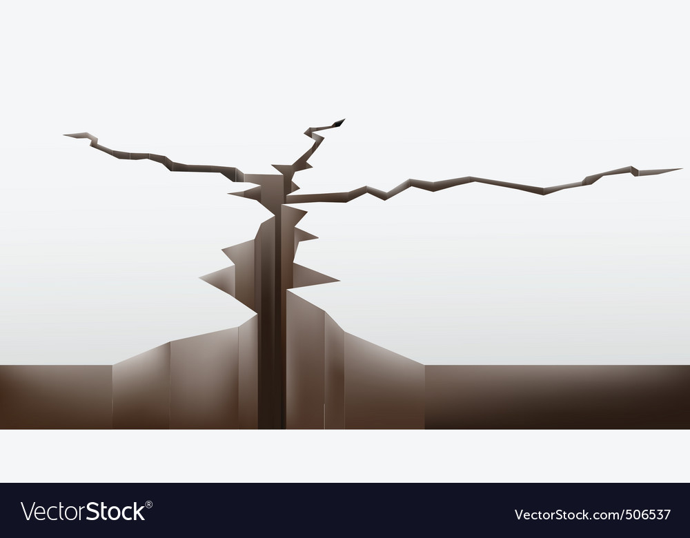Crack in the ground vector | Price: 1 Credit (USD $1)