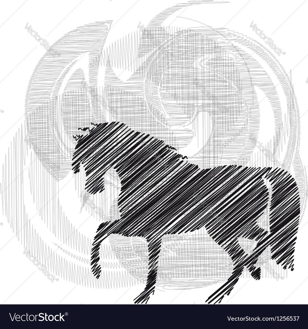 Horse running vector | Price: 1 Credit (USD $1)