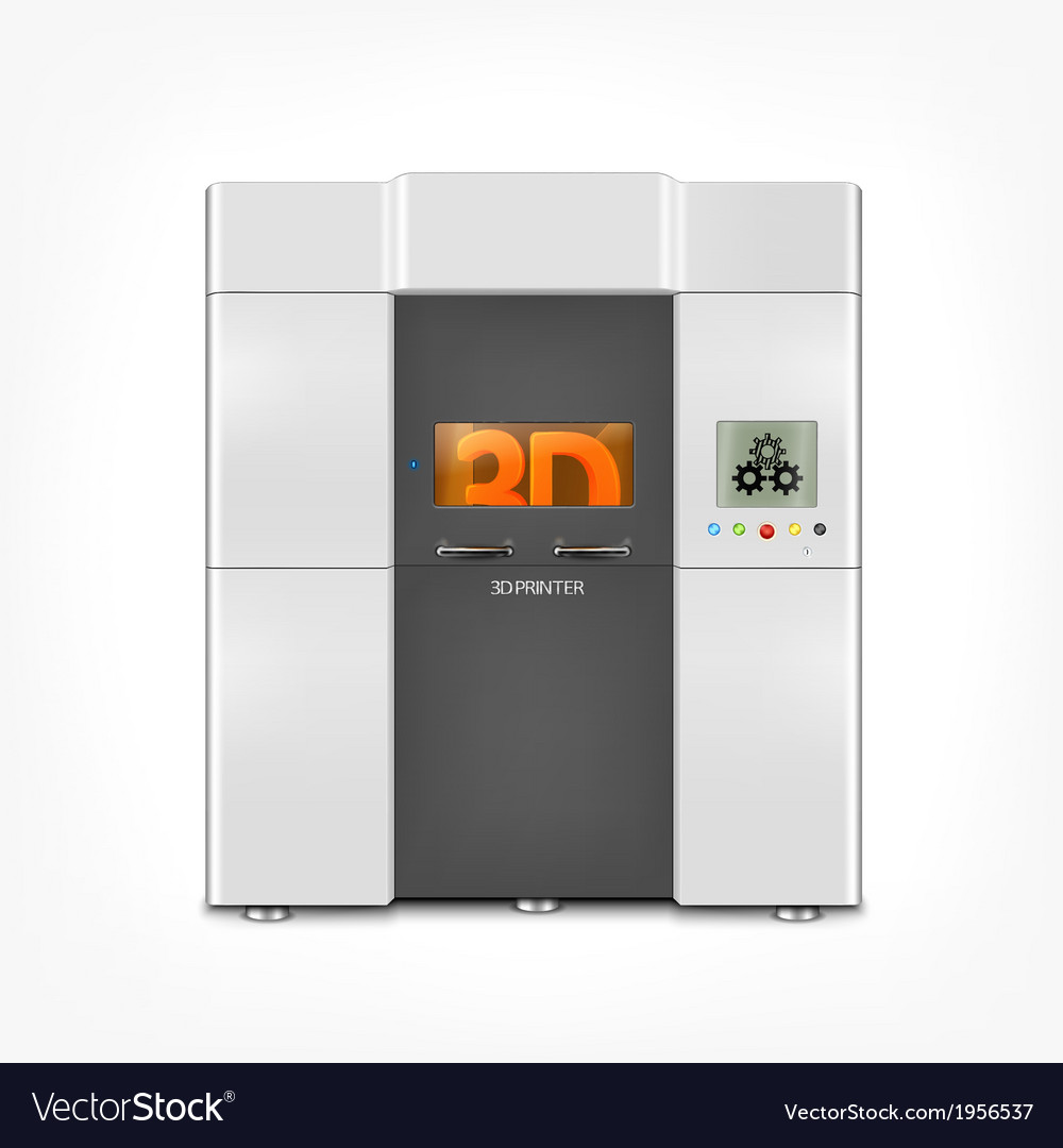 Industrial 3d printer vector | Price: 1 Credit (USD $1)
