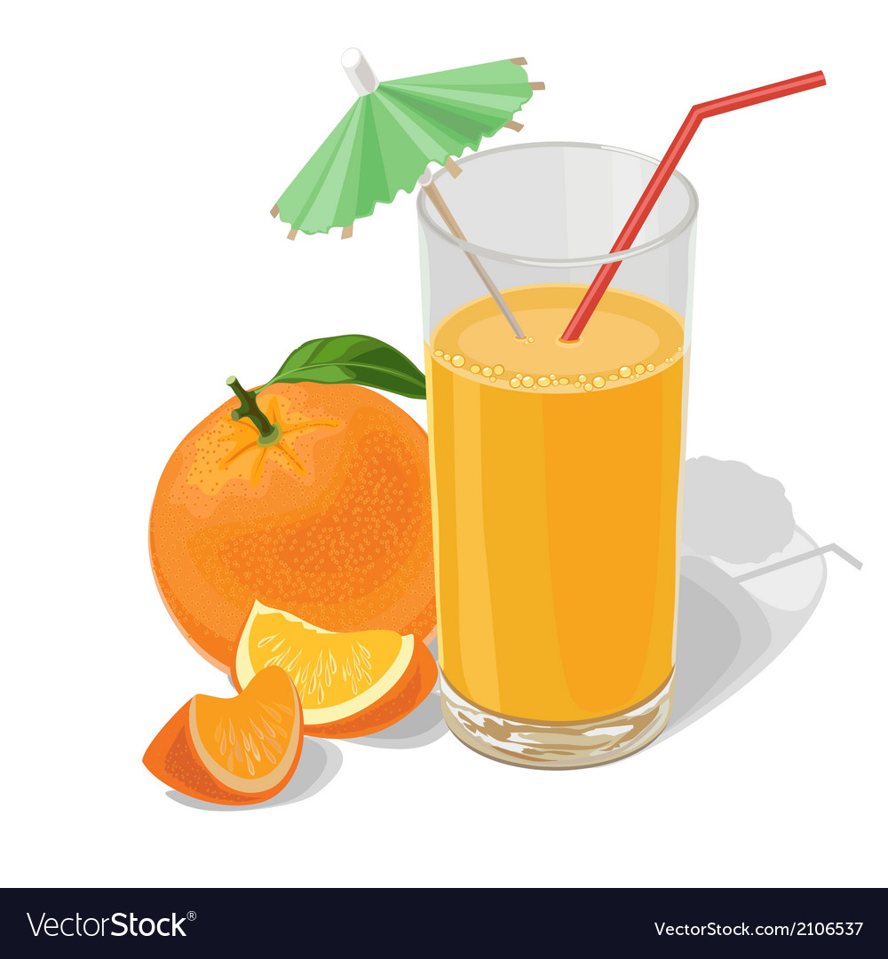 Oranges and juice vector | Price: 1 Credit (USD $1)