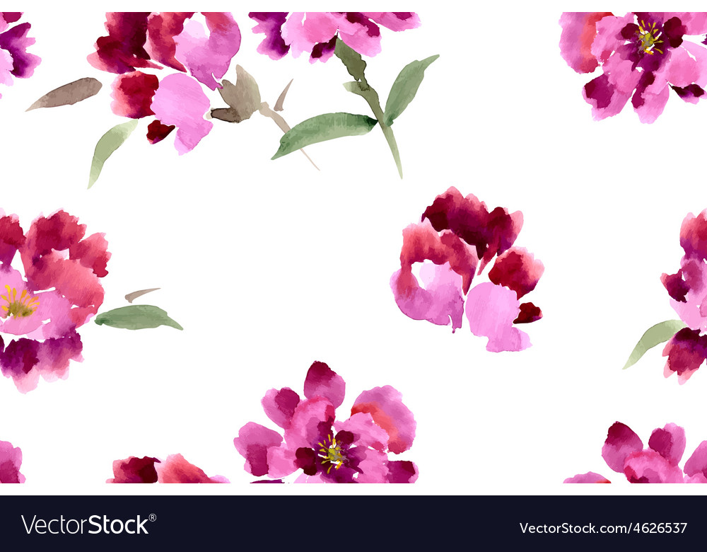 Peony painted in gouache vector | Price: 1 Credit (USD $1)
