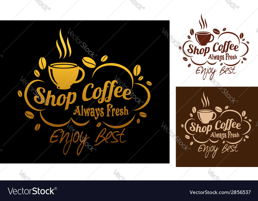 Shop coffeesymbols or banners vector | Price: 1 Credit (USD $1)