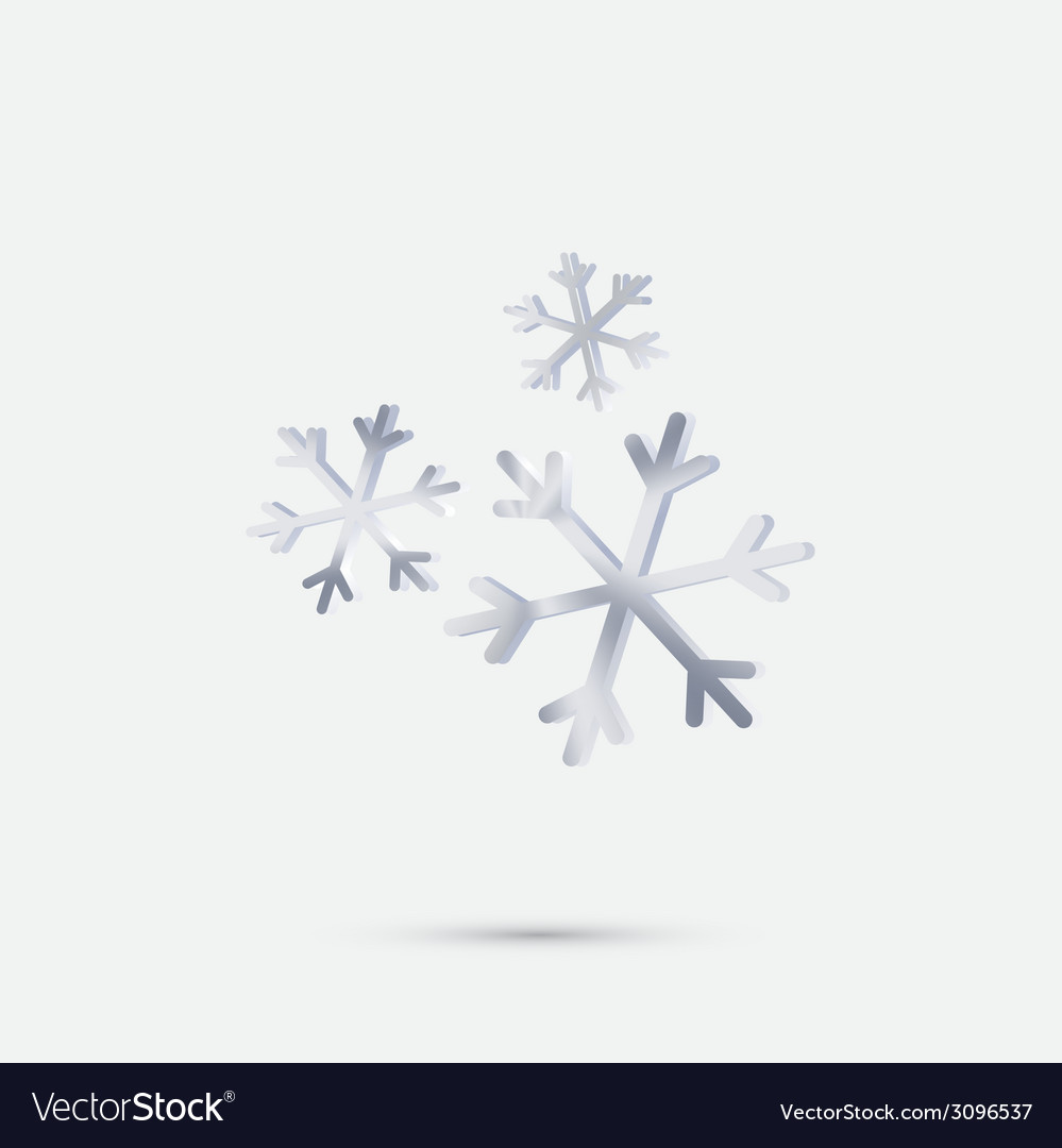 Snowflake the weather icon vector | Price: 1 Credit (USD $1)