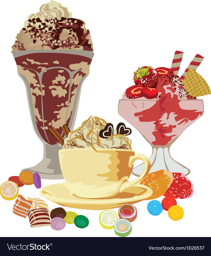Still life with sweets vector | Price: 1 Credit (USD $1)